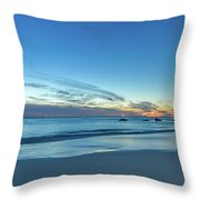 Rocky Daybreak Seascape Throw Pillow