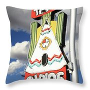 Route 66 - Tucumcari New Mexico Throw Pillow