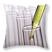 Scientific Experiment In Science Research Lab Throw Pillow