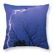 17 Street To Hygiene Lightning Strike. Throw Pillow