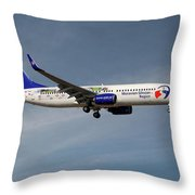 Travel Service Boeing 737-8cx Throw Pillow
