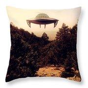 Ufo Sighting Throw Pillow