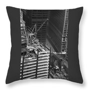 World Trade Center Under Construction 1967  Throw Pillow