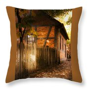 1700s House Old Salem Throw Pillow