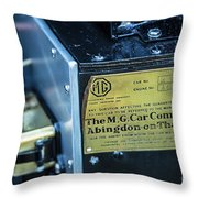 1743.045 Plate1930 Mg Throw Pillow