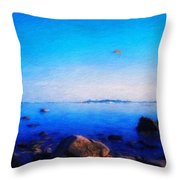Nature Landscape Paintings Throw Pillow