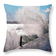 Nature Oil Paintings Landscapes Throw Pillow