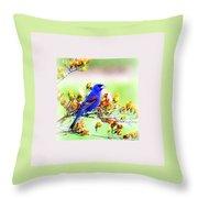 1795 - Blue Grosbeak Throw Pillow