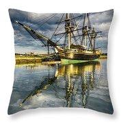1797 Trading Ship Replica - Friendship Of Salem Throw Pillow