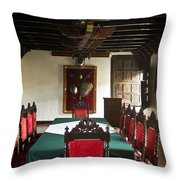 17th Centruy Meeting Room Throw Pillow