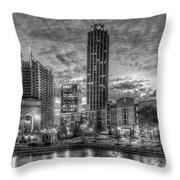 17th Street Dawn Atlantic Station Millennium Gate Art Throw Pillow