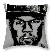 50 Cent Collection Throw Pillow