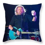 Barry Gibb Throw Pillow