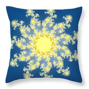 Fractal Floral Pattern Throw Pillow