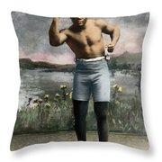 Jack Johnson, 1878-1946 Throw Pillow