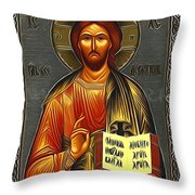 Jesus Christ Catholic Art Throw Pillow