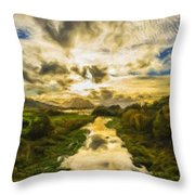 Landscape Color Throw Pillow