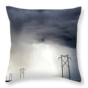 Prairie Storm Clouds Canada Throw Pillow