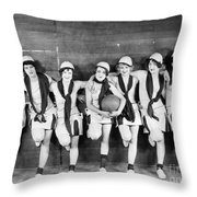 Silent Film Still: Sports Throw Pillow