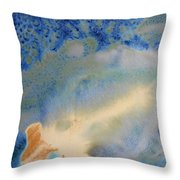 18. V1 Blue, Green, And Brown Glaze Painting Throw Pillow