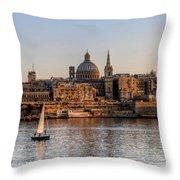 Valletta, Malta Throw Pillow
