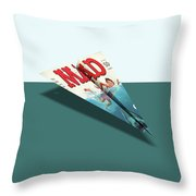 180 Mad Paper Airplanes Throw Pillow