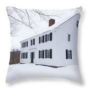 1800 White Colonial Home Throw Pillow