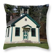 1800's School House 1 Throw Pillow