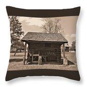 1800's Tool House Throw Pillow