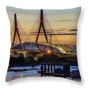 1812 Constutition Bridge From Rio San Pedro Puerto Real Spain Throw Pillow