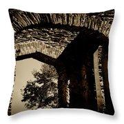 1833 Ruins Throw Pillow