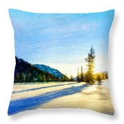 Nature Oil Painting Landscape Throw Pillow