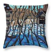 1840 Farm Throw Pillow