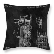 1845 Railroad Patent Throw Pillow