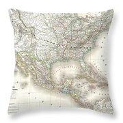 1858 Dufour Map Of The United States  Throw Pillow