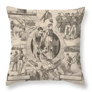 1860-1870 Throw Pillow