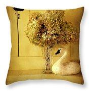 1860 Farm House Throw Pillow
