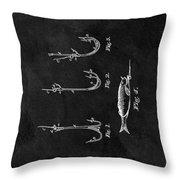 1867 Fishing Lure Patent Throw Pillow