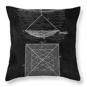 1869 Fishnet Patent Throw Pillow