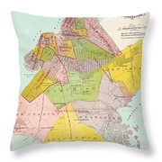 1869 King County Map Throw Pillow