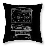 1871 Bagatelles Patent Drawing Throw Pillow