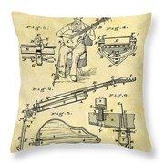 1873 Guitar Patent Throw Pillow