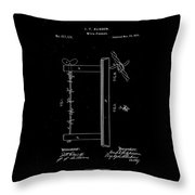 1874 Wire Fence Patent Drawing Throw Pillow