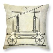 1875 Fire Extinguisher Patent Throw Pillow
