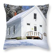 1875 Flying Point School Throw Pillow