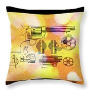 1875 Revolver Throw Pillow
