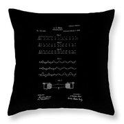 1876 Alexander Graham Bell Telegraphy Patent Drawing Throw Pillow
