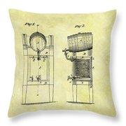 1876 Beer Cooler Patent Throw Pillow