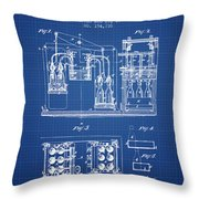 1877 Bottling Machine Patent - Blueprint Throw Pillow