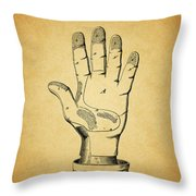 1878 Corn Husking Glove Patent Throw Pillow